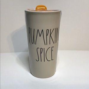 Rae Dunn Kitchen - Rae Dunn Pumpkin Spice travel mug coffee tea NEW